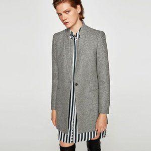 Zara Jackets & Coats - Wool Frock Coat With Double Lapel Collar